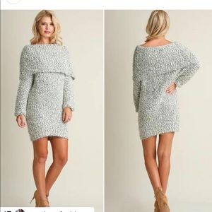 NWT off the shoulder sweater dress umgee